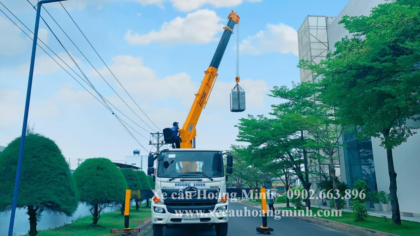 Dịch vụ xe cẩu KCN Tân Thành uy tín
