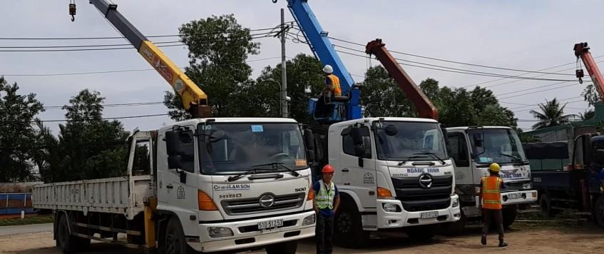 Cho thuê xe cẩu tải huyện Châu Thành