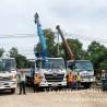 Xe cẩu thi công lắp đặt công trình tại TPHCM