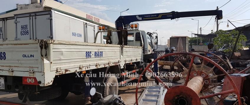 Cho thuê xe cẩu tải huyện Tân Thạnh