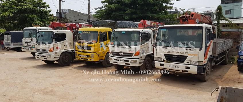 Cho thuê xe cẩu tải huyện Vĩnh Cửu