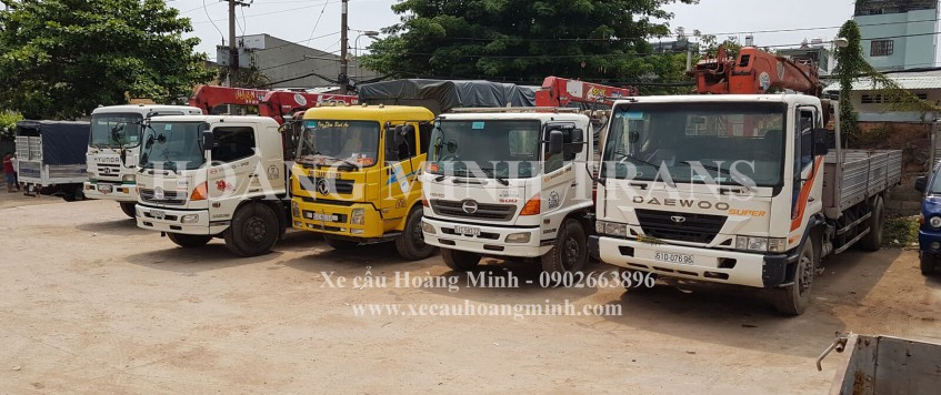 Cho thuê xe cẩu tải Tây Ninh